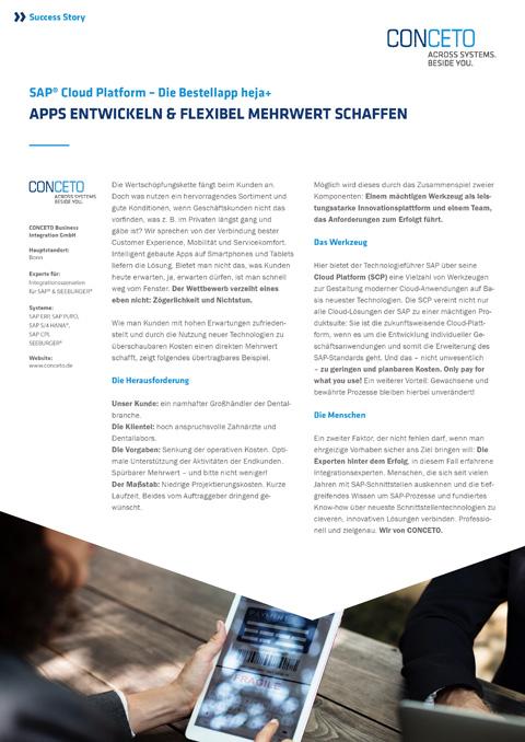CONCETO Success Story – SAP Cloud Platform-bestellapp-heja